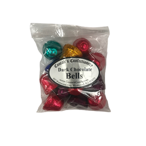 Dark Chocolate Foiled Bells- 4 oz bag