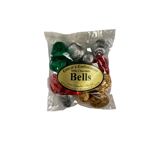 Milk Chocolate  Foiled Bells- 4 oz bag