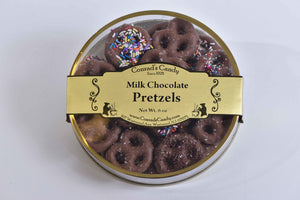 Milk Chocolate covered Pretzels Round - Conrad's Confectionery