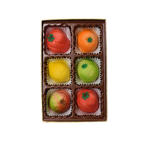 Assorted Marzipan Fruit (6 pieces)