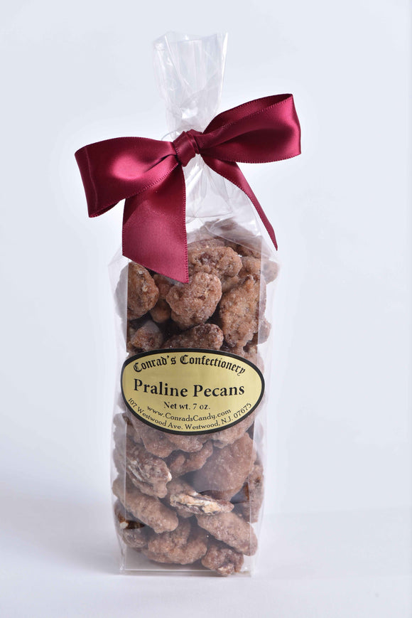 Bag of Praline Pecans in Flat Bottom Bag - Conrad's Confectionery