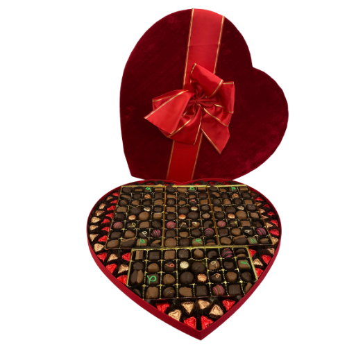 #80 Milk & Dark Chocolate Valentine's Heart