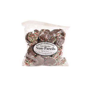 Dark Chocolate Christmas Non Pareils- 8 oz bag