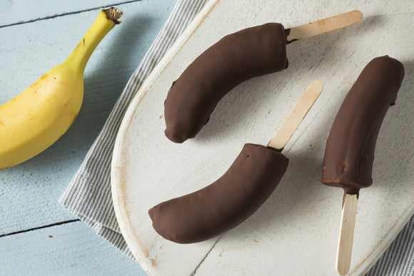 Dark Chocolate Covered Frozen Banana