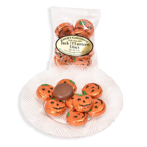 Milk Chocolate Jack O Lantern Discs- 2 oz bag