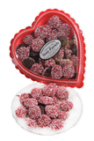 Valentine's Day Dark Chocolate Non-Pareils in Clear Plastic Heart Shaped Box (10oz)