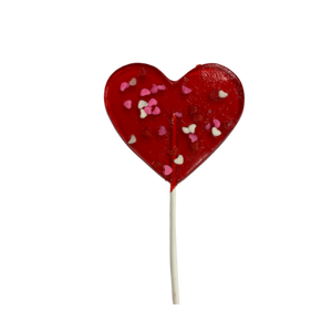 Large Heart Shaped Barley Pop w/ Confetti