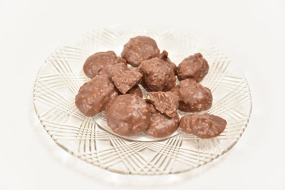 Milk Chocolate Coconut Nibs (Half Pound Box) - Conrad's Confectionery