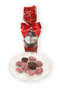 6 oz Dark Chocolate Valentine's Day Non-Pareils - Conrad's Confectionery