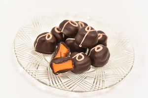 Dark Chocolate Orange Creams (Half Pound Box) - Conrad's Confectionery
