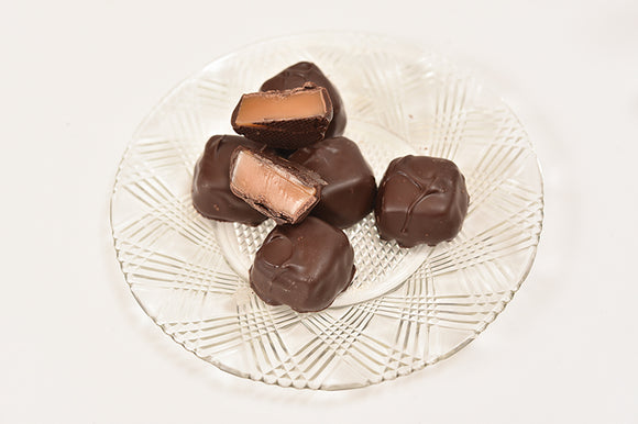 Sugar Free Dark Caramel (Half Pound Box) - Conrad's Confectionery