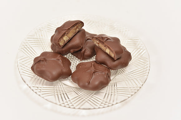 Sugar Free Milk Pecan Turtle (Half Pound Box) - Conrad's Confectionery