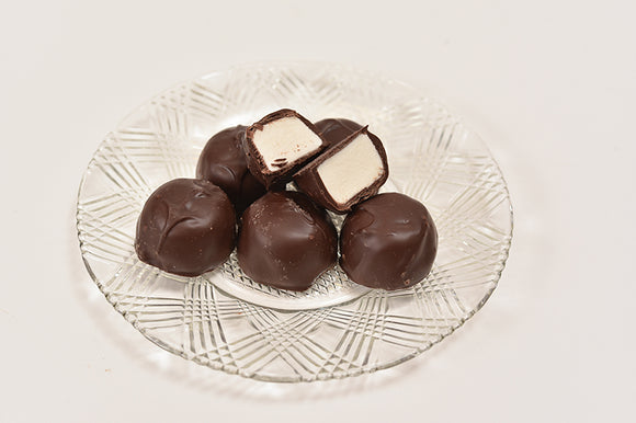 Sugar Free Dark Marshmallow (Half Pound Box) - Conrad's Confectionery