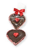 Valentine's Day Dark Chocolate Heart in Cellophane Bag - Conrad's Confectionery