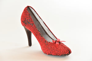 Dark Chocolate High Heel Shoe, Red (Hollow) - Conrad's Confectionery