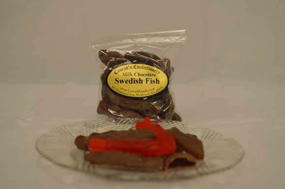 Milk Chocolate Swedish Fish- 4 oz bag