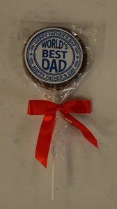 Milk Chocolate Round Dad Lollipop