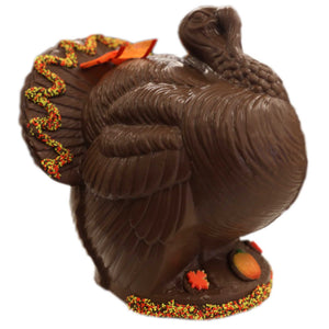 "11"" Milk Chocolate Turkey - Model""F"" Thanksgiving Centerpiece - Conrad's Confectionery"