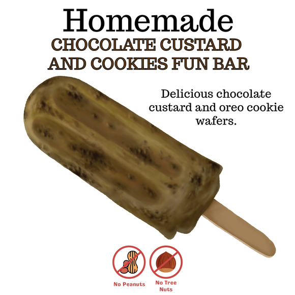 Chocolate Custard & Cookies Fun Bar