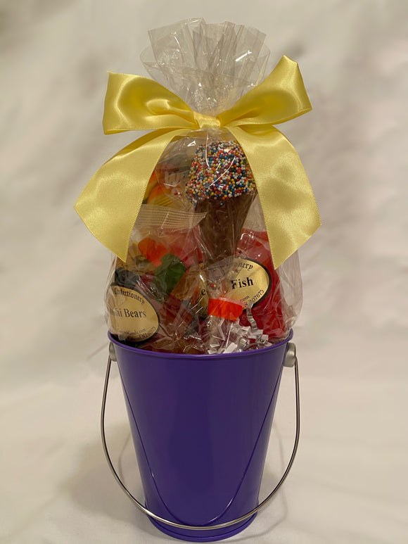 Purple School Spirit Gift Bucket