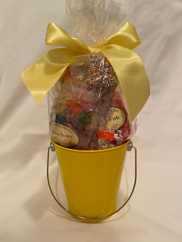 Yellow School Spirit Gift Bucket