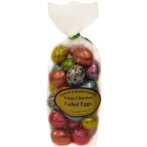 White Chocolate Foil Eggs- 8 oz bag