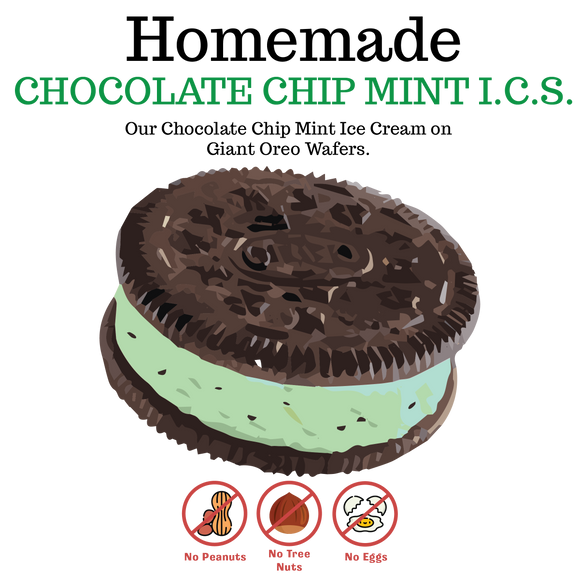 Chocolate Chip Mint Ice Cream Sandwich