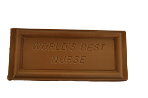 "Milk Chocolate ""World's Best Nurse"" Plaque"