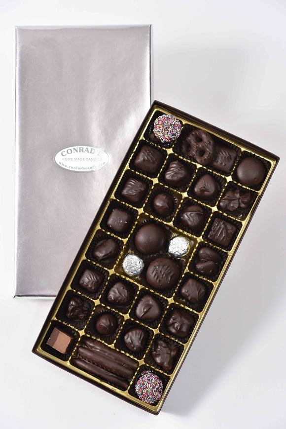 Medium assortment of our favorite dark chocolates - Conrad's Confectionery