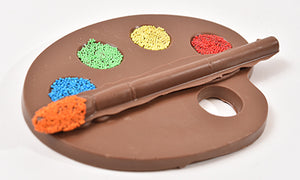 Milk Chocolate Artist Paint Palette & Brush Set (Hollow) - Conrad's Confectionery