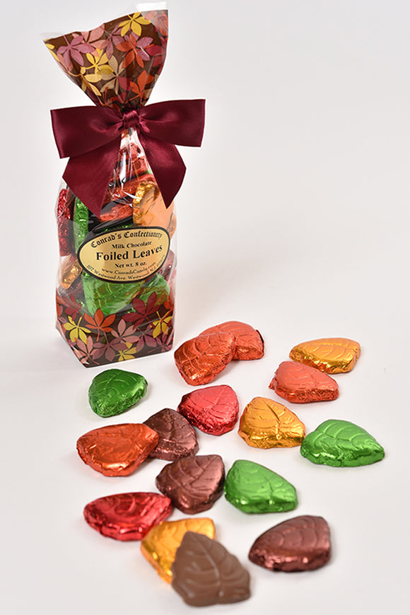Milk Chocolate Foiled Leaves- 8 oz - Conrad's Confectionery
