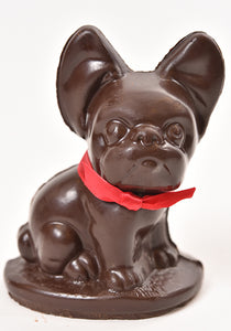 Dark Chocolate Bulldog (Hollow) - Conrad's Confectionery