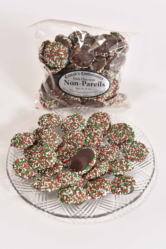 Dark Chocolate Non Pareils (4oz) - Conrad's Confectionery