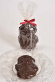 "4"" Dark Chocolate Santa Face"