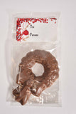 "3.5"" Milk Chocolate Wreath w/ Gift Tag - Conrad's Confectionery"