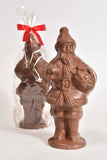 "9""  Milk Chocolate ""Present"" Santa model X-8"