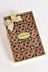 Box of 30 Milk Chocolate covered Mini Pretzels