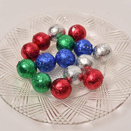 Loose Crispy Milk Chocolate Foil Ornaments  (Half Pound Box)
