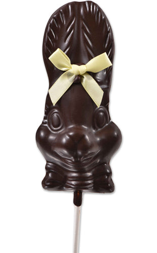 Dark Chocolate Small Bunny Face Lollipop