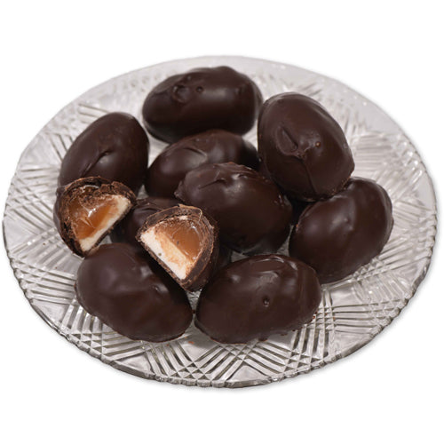 Dark Chocolate Caramellow Eggs (Half Pound Box) - Conrad's Confectionery