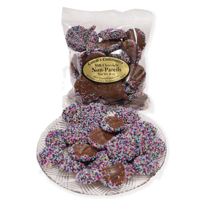 Milk Chocolate Easter Non Pareils- 8 oz bag