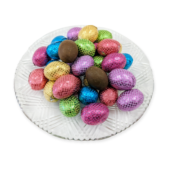 Milk Chocolate Crunchy Foiled Eggs (loose) (Half Pound Box)