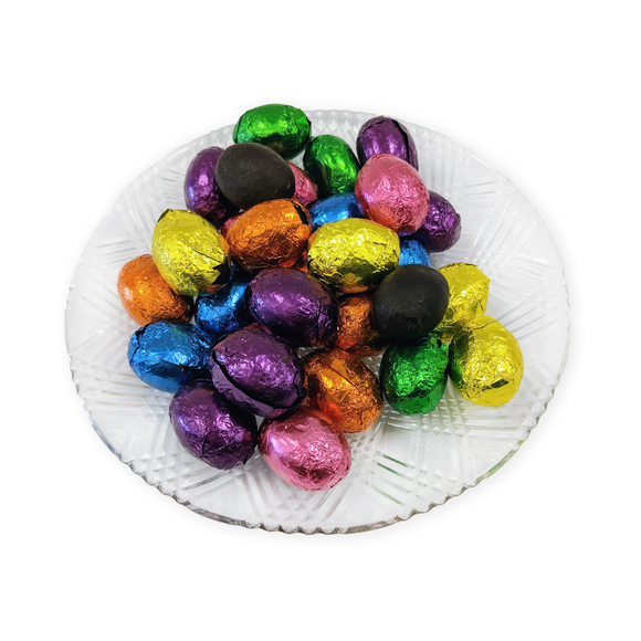 Dark Chocolate Foiled Eggs (loose) (Half Pound Box)