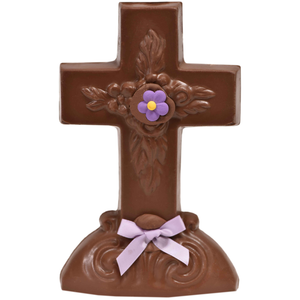 "7.5"" Milk Chocolate Easter Novelty # 33 - ""Cross"""