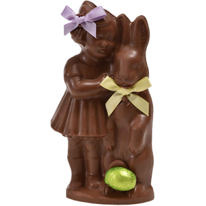 "6.75"" Milk Chocolate Easter Bunny #19- ""Girl with Bunny"""