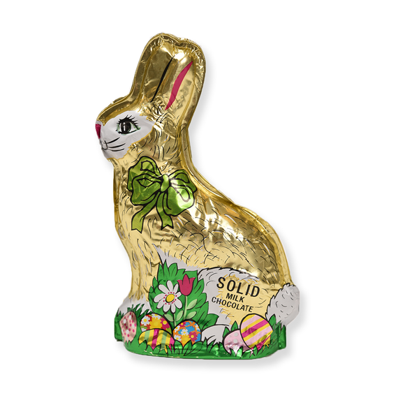 Milk Chocolate Solid Foiled Bunny (6 oz)