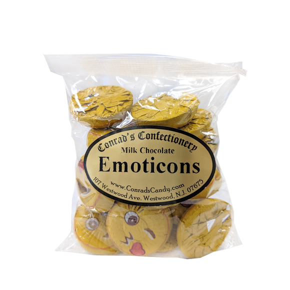 Milk Chocolate Foil Emoticon- 4 oz bag
