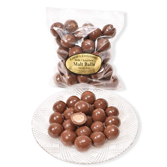 Milk Chocolate Malt Balls- 8 oz bag