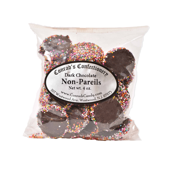 Dark Chocolate Non Pareils- 4 oz bag