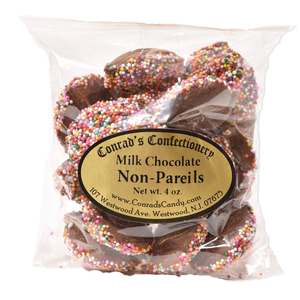 Milk Chocolate Non Pareils- 4 oz bag